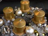 adventskranz,gold