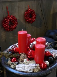 adventskranz,rot