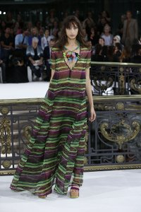 john,galliano,fashion-week,paris,green,dress