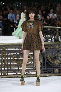 john,galliano,fashion-week,paris,transparent,dress